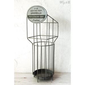 傘立て Sign Panel Gray × Black ( おしゃれ シンプル アイアン アンティーク調 玄関収納 アンブレラスタンド )|wutty