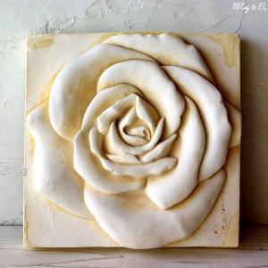 ウォールデコ Interior Plate Rose A (アンティーク調 壁掛け)|wutty