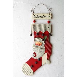 壁飾り Socks Deco Santa ( 壁掛け サンタ ドアプレート )|wutty