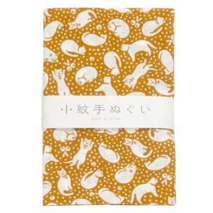 日本手ぬぐい 35 鈴ねこ てぬぐい 手拭い 小紋柄 和手拭い