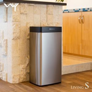 WY 全自動センサー式ダストボックス 大容量45L ゴミ箱 自動開閉 おしゃれ キッチン スリム ステンレスボディ 清潔 快適 リビングS|wystyle
