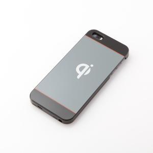 Qiワイヤレス充電ケース iPhone SE 5s 5専用 重さ25gの軽量スリムタイプ iPhone 5を置くだけで充電対応に