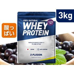 プロテイン エクスプロージョン 100%ホエイプロテイン カシス味 3kg 日本製 男性 女性 X-PLOSION|x-plosion