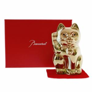 バカラ 置物 フィギアオーナメント 招き猫 ゴールド 【2612-997】 【バカラ:Baccara...