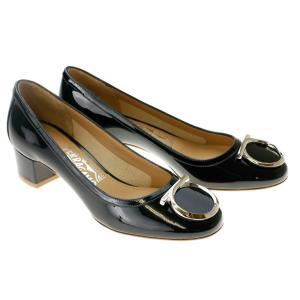 フェラガモ 靴 パンプス FERRAGAMO ENA 40 0658683 01M056 NERO ガンチーニ