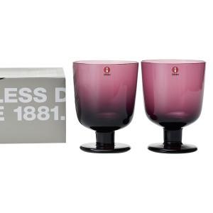 イッタラ IITTALA グラス 951170 マウスグラス 350ml ペア ダークライラック レンピ|x-sell