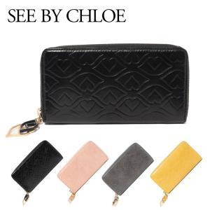 シーバイクロエ SEE BY CHLOE リップとハートを組み合わせたモチーフがキュートな長財布。サ...