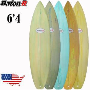 サーフボード BatonR ショートボード 6'4 サーフィン 5カラー フィン付属 SURFBOA...