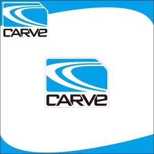 CARVE ステッカー アイコン シール マリンスポーツ サーフィン スケボー|x-sports