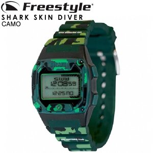 Freestyle フリースタイル サーフィン 時計 メンズ レディース 腕時計 防水 サーフウォッチ シャーク SHARK SKIN DIVER CAMO 送料無料|x-sports
