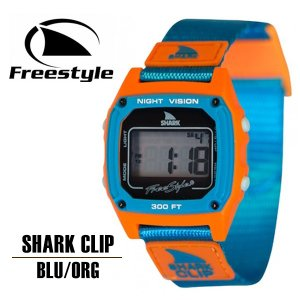 Freestyle フリースタイル サーフィン 時計 メンズ レディース 腕時計 防水 サーフウォッチ SHARK CLIP ブルー オレンジ 送料無料|x-sports