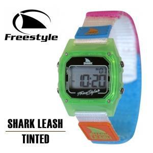 時計 腕時計 防水 サーフィン メンズ レディース フリースタイル freestyle SHARK LEASH TINTED ライム 送料無料|x-sports