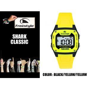 Freestyle サーフィン シャーク 腕時計 SHARK CLASSIC BK/YL 防水 サーフウォッチ フリースタイル 時計 基本送料無料|x-sports