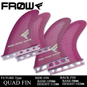 サーフボード フィン FUTURE/フューチャー対応 パープル クアッドフィン サーフィン FROW|x-sports