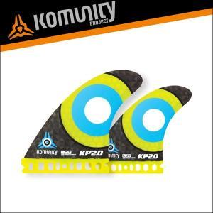 Komunity フューチャー フィン クアッドフィン KP2.0 FUTURE 4fin イエロー コミュニティ サーフィン サーフボード 基本送料無料|x-sports