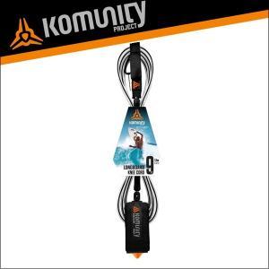 Komunity リーシュコード 9f 9フィート サーフィン ロングボード用 KP 9' LONGBOARD KNEE LEASH-7MM-BLACK サーフボード x-sports