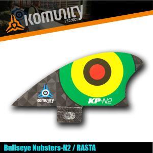 Komunity Bullseye Nubsters-N2 ラスタ ナブスターフィン ミニ スタビライザーフィン 5プラグ コミュニティ ケリースレーター FCS KELLY x-sports