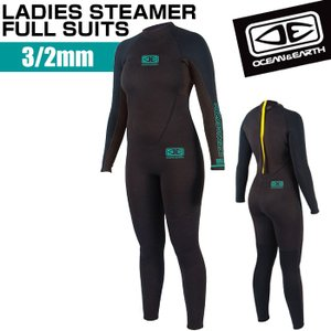 オーシャン&アースウェットスーツ フルスーツ レディース LADIES STEAMER 3/2mm サーフィン SUP ネオプレーン OCEAN&EARTH|x-sports
