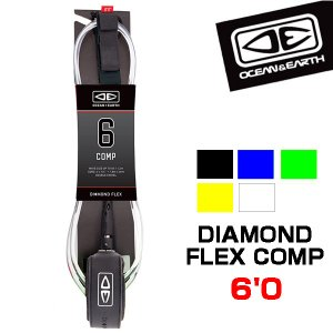 O&E リーシュコード 6f 6フィート サーフィン REGULAR COMPモールドリーシュ オーシャンアンドアース|x-sports