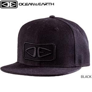 キャップ 帽子 サーフキャップ スナップバック 刺しゅうロゴ ブラック サーフィン マリンスポーツ 海水浴 ストリート OCEAN&EARTH【希望小売価格の10%OFF】 x-sports