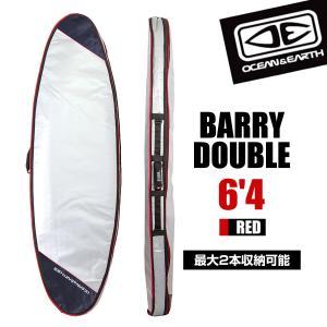 ハードケース サーフボード O&E BARRY DOUBLE COVER 6'4 ブラック バリーダブル フィッシュ ショートボード 2本収納 ケース サーフィン オーシャンアンドアース|x-sports
