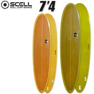 サーフボード ファンボード 7'4 SCELL サーフィン オリーブ マスタード 2トーンカラー 特典付き 希望小売価格の60%OFF 新作|x-sports