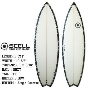 ショートボード サーフボード 5'11 ショート ブラック FCS対応 フィン付属 サーフィン SCELL|x-sports