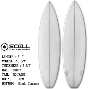 ショートボード サーフボード 6'0 ショート ホワイト FCS対応 フィン付属 サーフィン SCELLsmart|x-sports