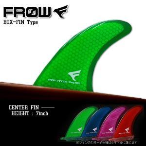 サーフボード フィン 7インチ グリーン センターフィン サーフィン FROW x-sports