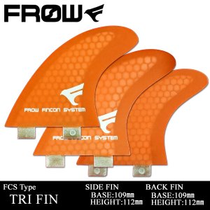 サーフボード フィン FCS/エフシーエス対応 オレンジ トライフィン サーフィン FROW x-sports