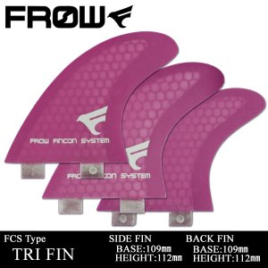 サーフボード フィン FCS/エフシーエス対応 パープル トライフィン サーフィン FROW|x-sports