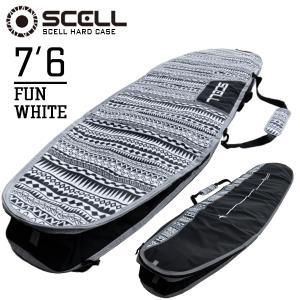 サーフボードケース ハードケース 7'6 ファンボード SCELL サーフィン 7.6ft ミッドレ...