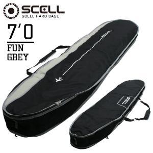 ハードケース サーフボード ケース 7'0 グレー ファンボード トラベルケース サーフィン SCELL|x-sports