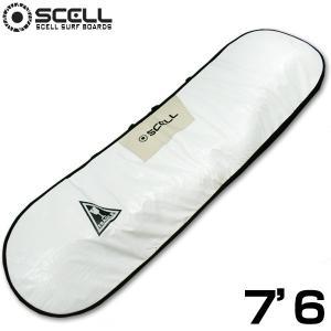サーフボード ハードケース サーフボードケース7'6 ファンボード アイボリー ホワイト SCELL サーフィン|x-sports