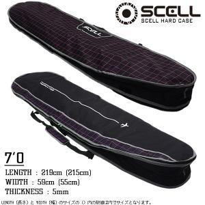 ハードケース サーフボード ケース 7'0 ピンク ファンボード トラベルケース サーフィン SCELL|x-sports