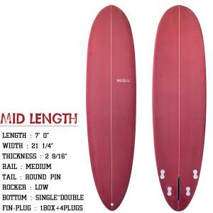 ◆SCELL◆ミッドレングス7'0 BB サーフィン サーフボード 7'0 セル フィン ミッドレン...