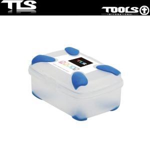 TOOLS ワックスパック 四角 ブルー ワックスケース WAX PACK TLS ツールス サーフィン サーフボード|x-sports