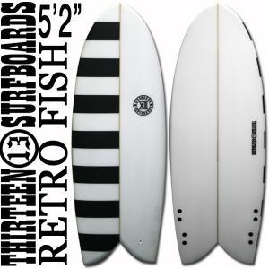 サーフボード ショート レトロフィッシュ 5'2 ボーダー ブラック フィン付属 サーフィン 13SURF x-sports