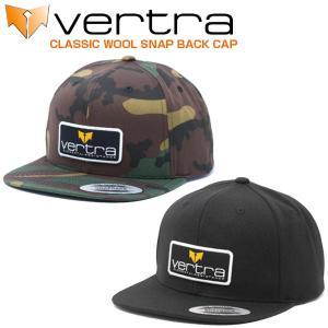 バートラ VERTRA キャップ クラシック ウール スナップバック 帽子 カモフラ柄 ブラック CLASSIC WOOL SNAP BACK CAP|x-sports