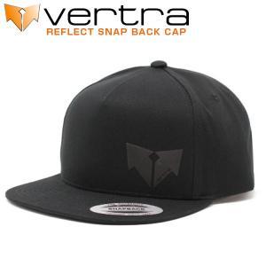 バートラ VERTRA キャップ リフレクト スナップバック 帽子 ブラック REFLECT SNAP BACK CAP エンブレム|x-sports