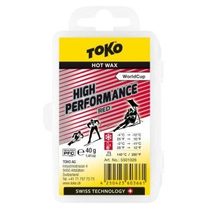 トコ TOKO ワックス WAX スキー スノーボード クロスカントリースキー フッ素高含有 ハイフッ素 ハイパフォーマンス レッド 40g 5501026 クリックポスト対応可|xc-ski