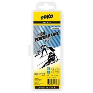 トコ TOKO ワックス WAX スキー スノーボード クロスカントリースキー フッ素高含有 ハイフッ素 ハイパフォーマンス ブルー 120g 5502033|xc-ski