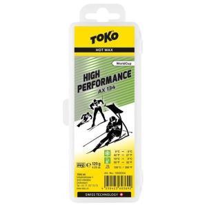 トコ TOKO ワックス WAX スキー スノーボード クロスカントリースキー フッ素高含有 ハイフッ素 ハイパフォーマンス AX134 120g 5502034|xc-ski