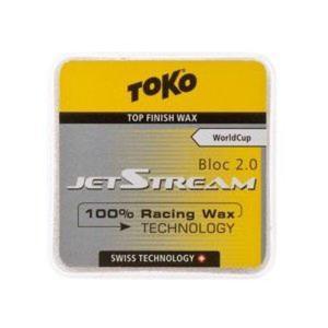 トコ TOKO ワックス スキー スノーボード クロスカントリースキー フッ素100% JetStream ジェットストリーム ブロック2.0 イエロー 5503021|xc-ski