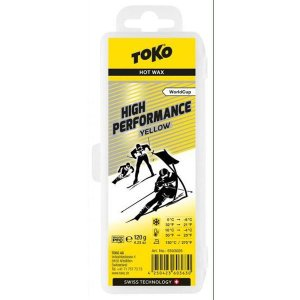 トコ TOKO ワックス WAX スキー スノーボード クロスカントリースキー フッ素高含有 ハイフッ素 ハイパフォーマンス イエロー 120g 5503025|xc-ski