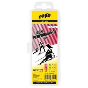 トコ TOKO ワックス WAX スキー スノーボード クロスカントリースキー フッ素高含有 ハイフッ素 ハイパフォーマンス レッド 120g 5503026|xc-ski