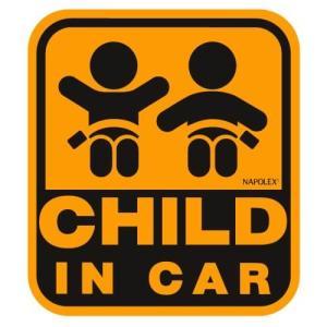 ナポレックス 車用 サイン セーフティーサイン CHILD IN CAR 特殊吸盤タイプ(内貼り) 傷害保険付 SF-20|xcellentjo