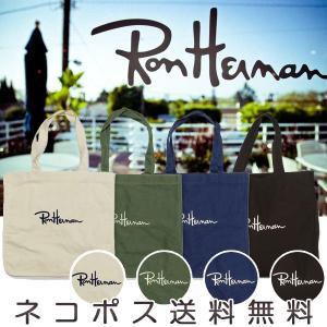 【レビューを書いてネコポス無料】Ron Herman ロンハーマン トートバッグ 4色[ブラック/ホワイト/ネイビー/グリーン] ロゴ入り 刺繍  トート|xenonshop