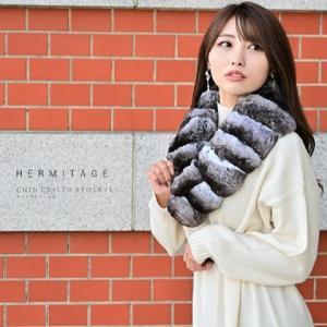 チンチラ 大き目 サイズ 日本製 マフラー ストール 最高級毛皮 リアルファー ナチュラルカラー 大人 女子 綺麗目 ファッション JAPAN ティペット 送料無料|xgszp74605