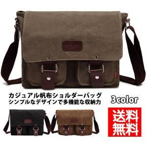 ショルダーバッグ メンズ 帆布バッグ 斜めがけバッグ メンズバッグ カバン 通勤 キャンバスバッグ お出かけ 送料無料|xhkyafu-ten